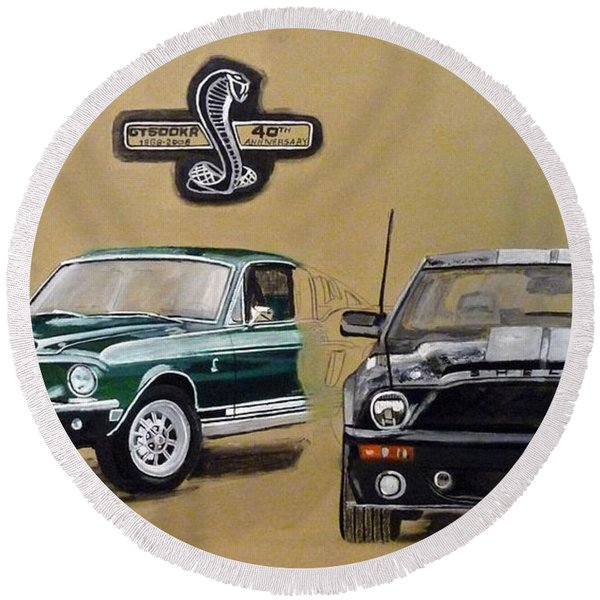Shelby 40th Anniversary Round Beach Towel