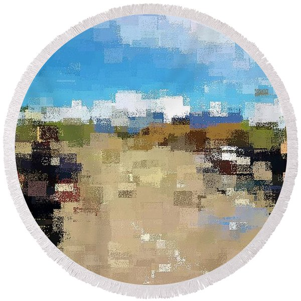 What Do You See? Round Beach Towel