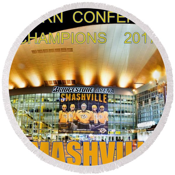 Smashville Western Conference Champions 2017 Round Beach Towel