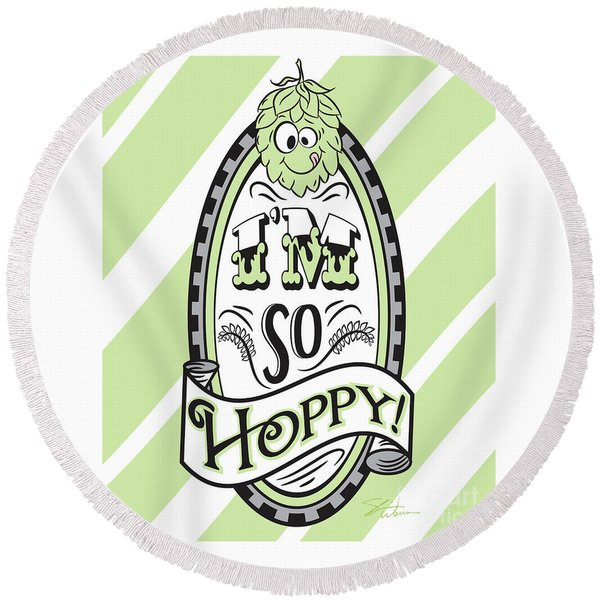 So Hoppy Round Beach Towel