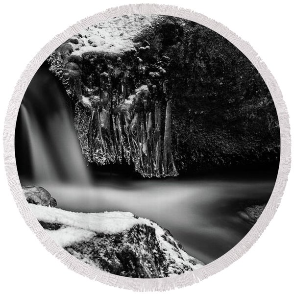soft and sharp at the Bode, Harz Round Beach Towel