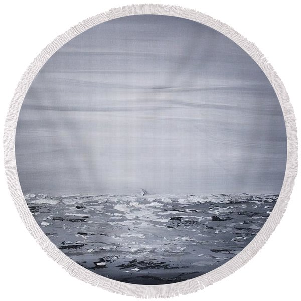 Soothing 2 Round Beach Towel