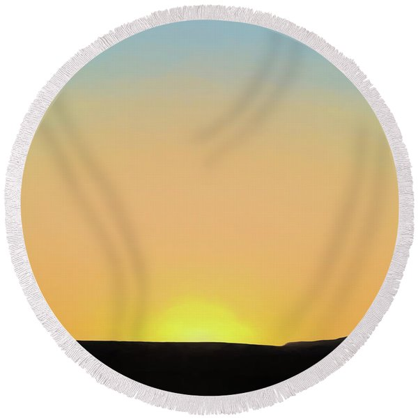 Southwestern Sunset Round Beach Towel