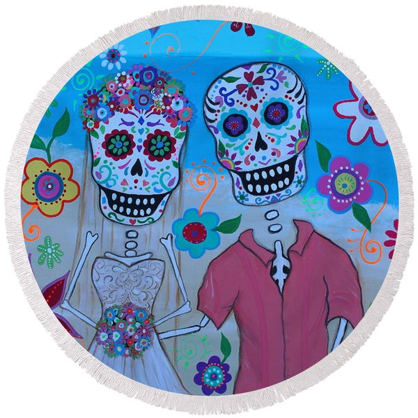 Special Mexican Wedding Round Beach Towel