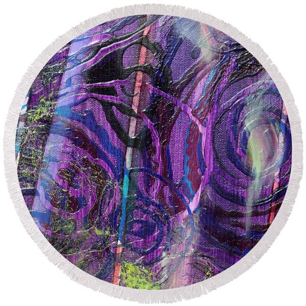 Spiral Detail From Annunciation Round Beach Towel
