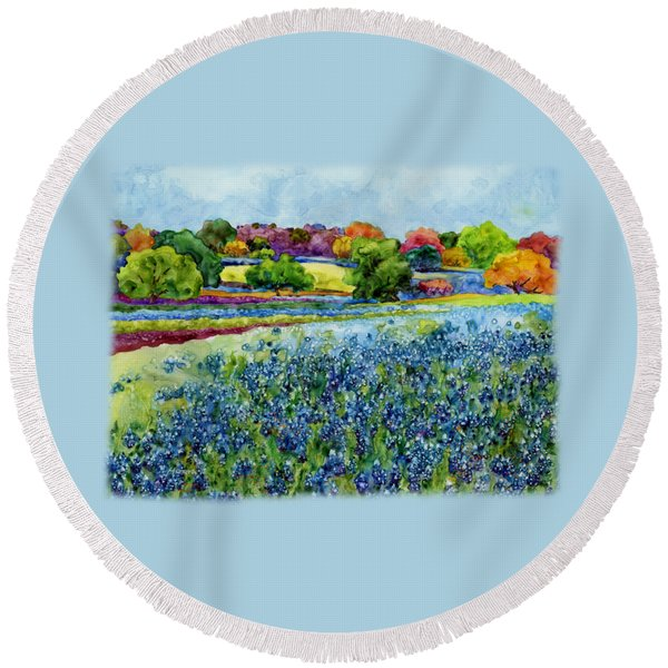 Spring Impressions Round Beach Towel