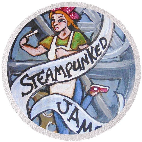 Steampunked Jams Round Beach Towel