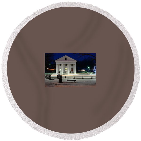 Sterling Town Hall Round Beach Towel