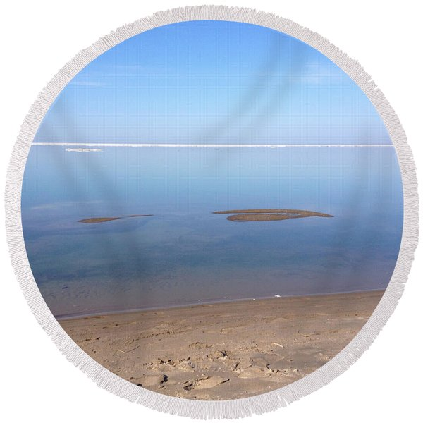 Still Waters 2 Round Beach Towel