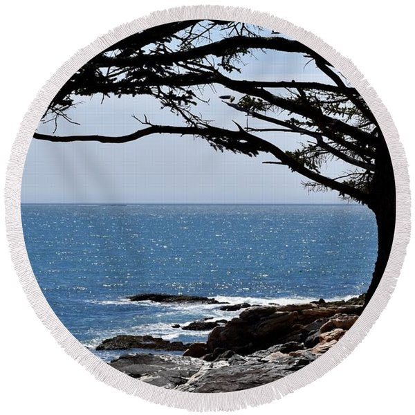 Summer Shade Round Beach Towel