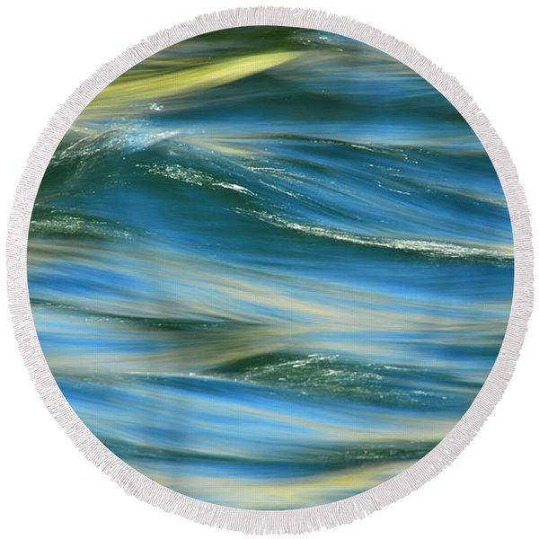 Sunlight Over The River Round Beach Towel