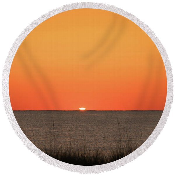 Sunrise Delivered Delray Beach Florida Round Beach Towel
