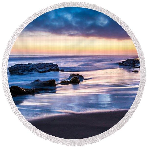 Sunset Shine Round Beach Towel
