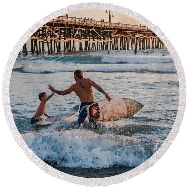 Surfboard Inspirational Round Beach Towel