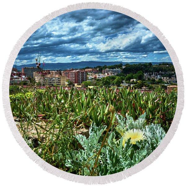Tarragona From The Roman Wall Round Beach Towel