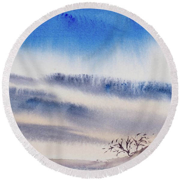 Tasmanian Skies Never Cease To Amaze And Delight. Round Beach Towel