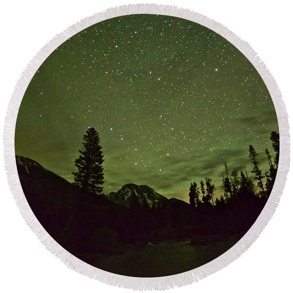 The Big Dipper Over Mount Moran Round Beach Towel