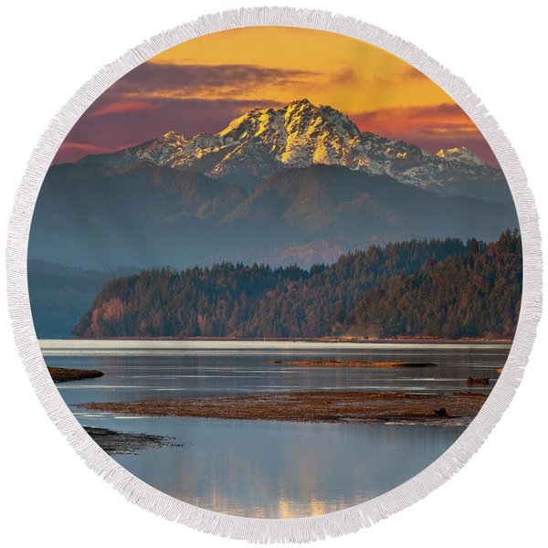 The Brothers From Hood Canal Round Beach Towel