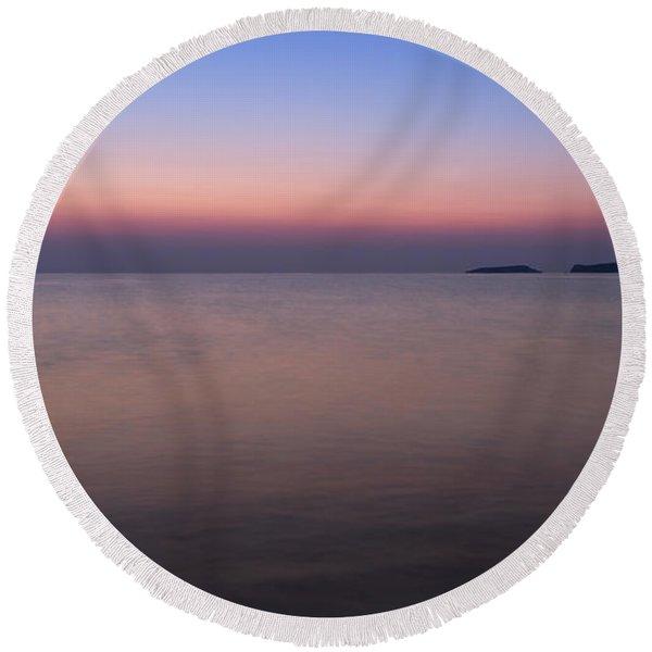 Dawn At The Mediterranean Sea Round Beach Towel