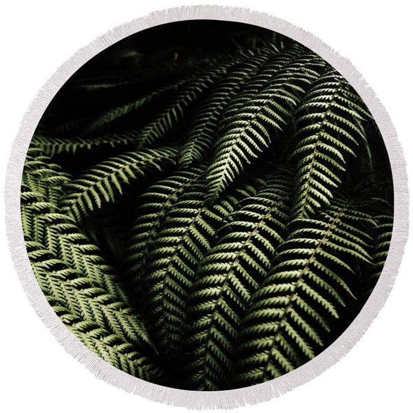 The Exotic Dark Jungle Round Beach Towel