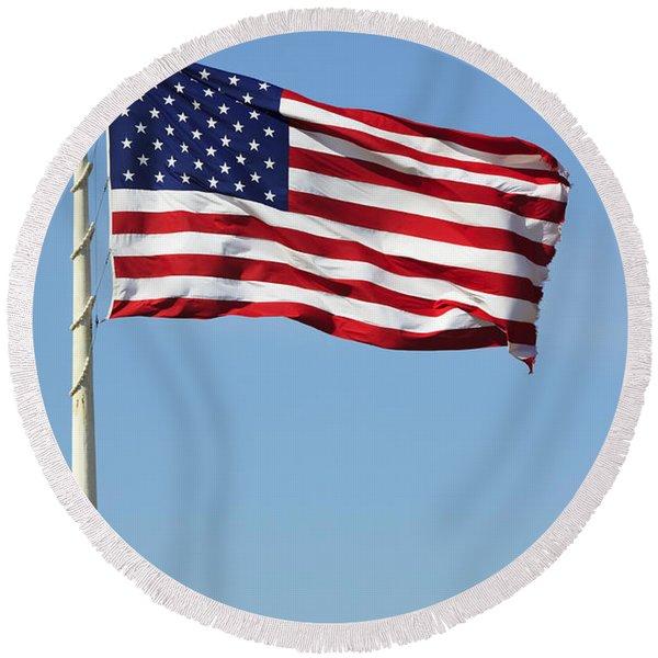 The Flag Round Beach Towel