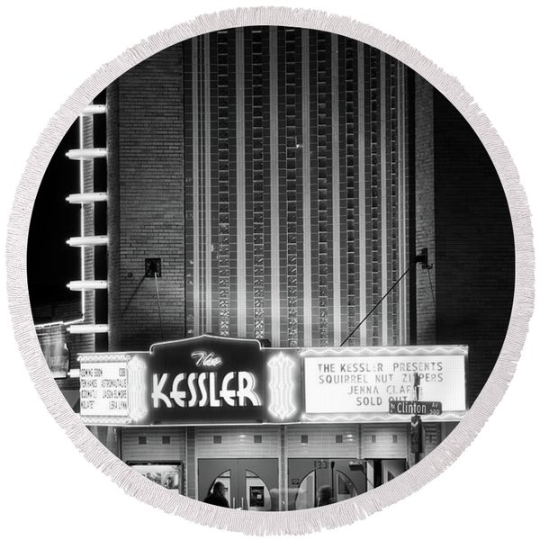The Kessler V2 091516 Bw Round Beach Towel