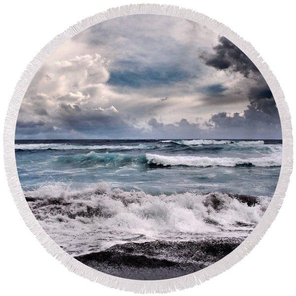 The Music Of Light Round Beach Towel