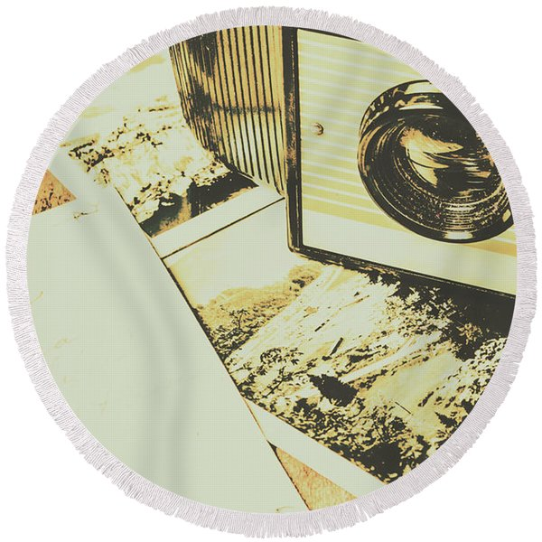 The Nostalgic Archive Round Beach Towel