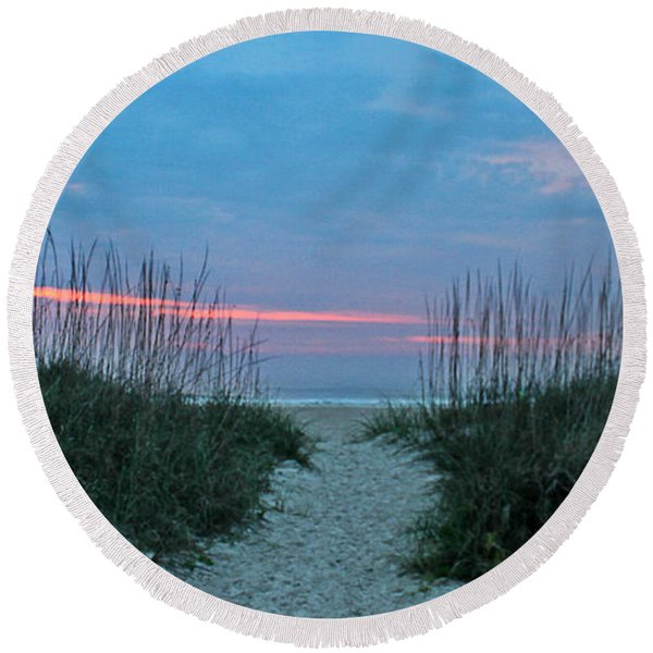 The Path Round Beach Towel
