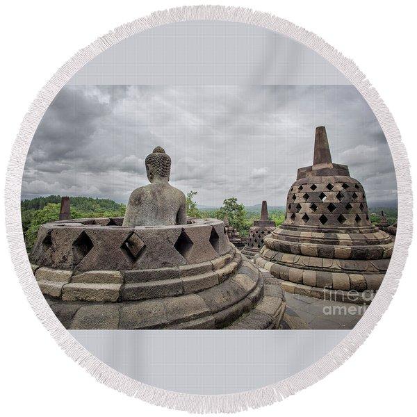 The Path Of The Buddha #5 Round Beach Towel