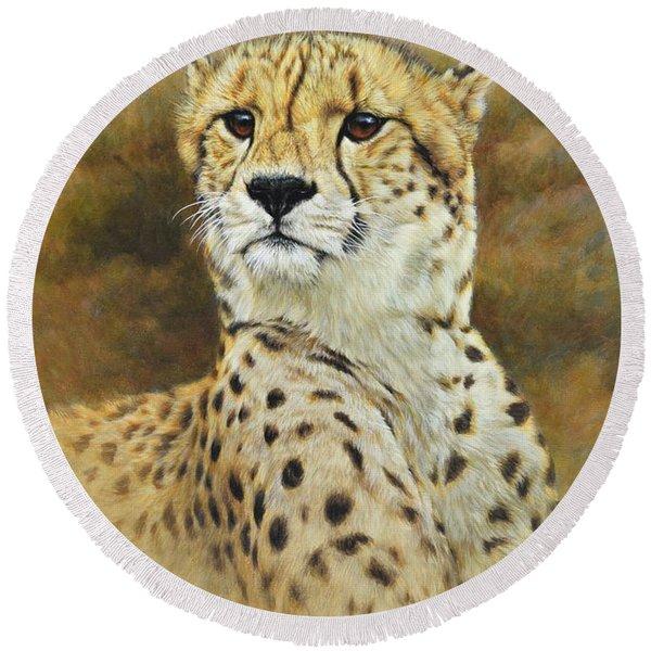 The Prince - Cheetah Round Beach Towel