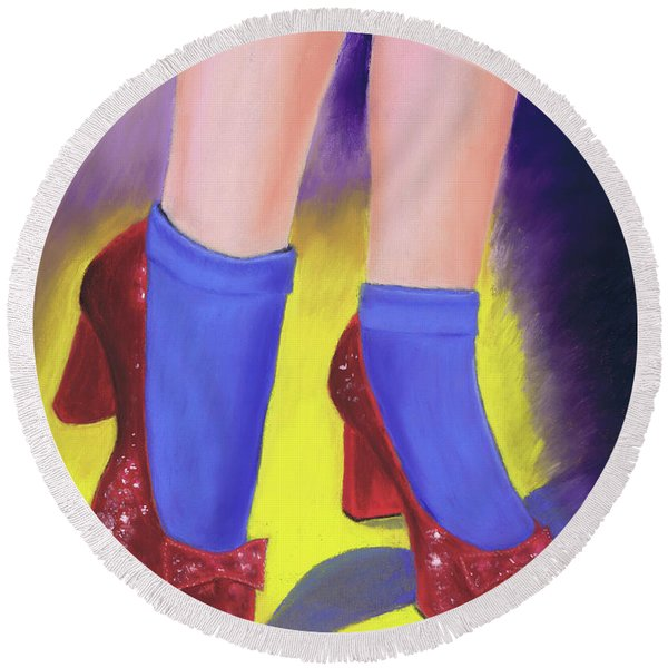 The Ruby Slippers Round Beach Towel