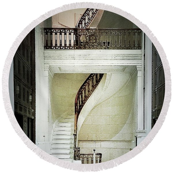 The Staircase Round Beach Towel
