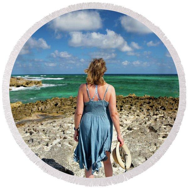 The View Round Beach Towel