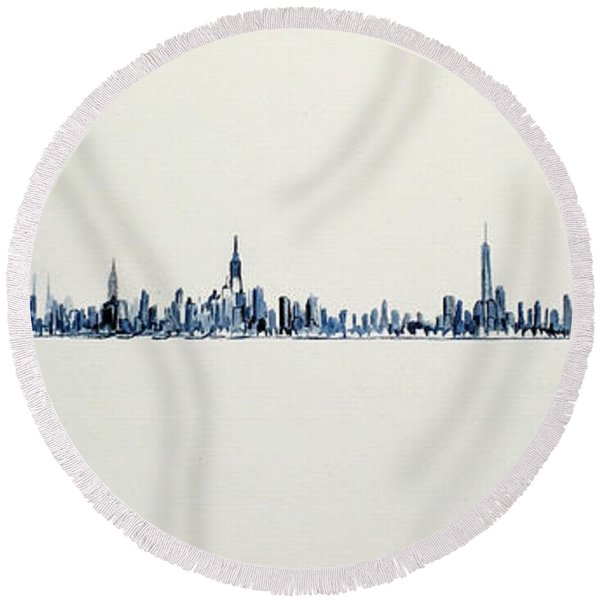 The Westside Round Beach Towel