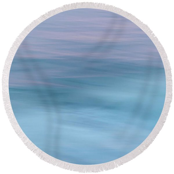 There Is A Calm Round Beach Towel