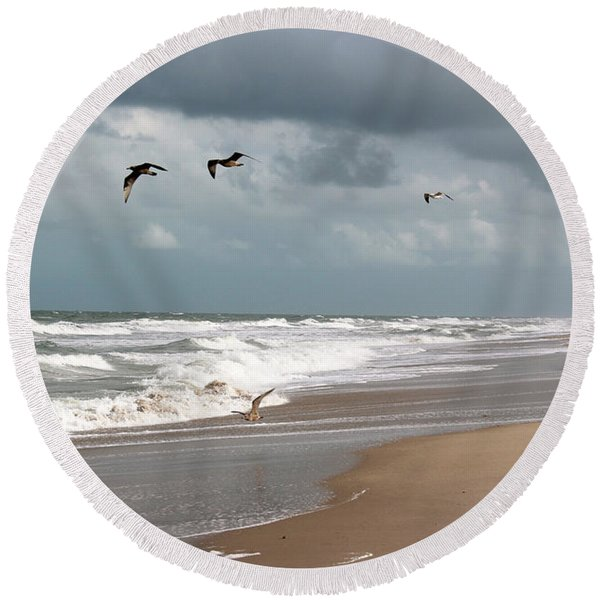Round Beach Towel featuring the photograph Timeless by Megan Dirsa-DuBois