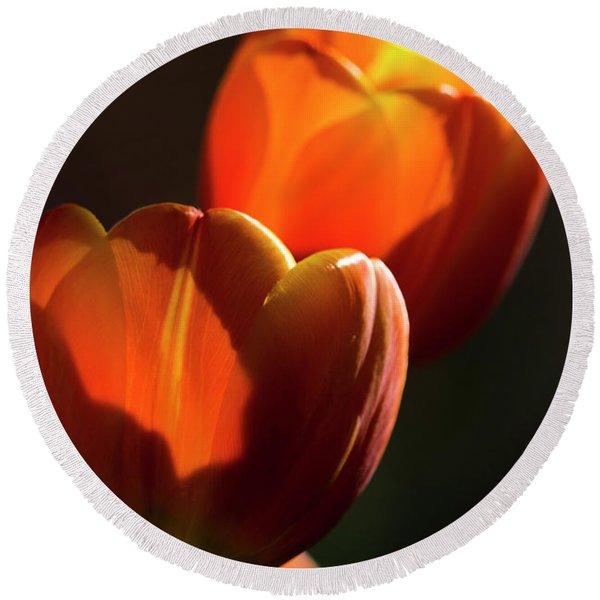 Tulip Afternoon Round Beach Towel