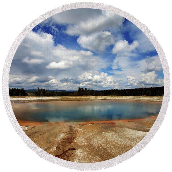 Turquoise Pool Round Beach Towel