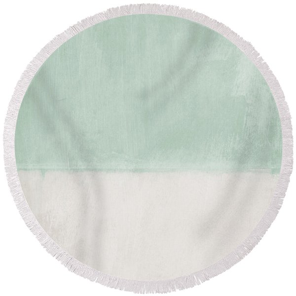Upon Our Sighs 2- Abstract Art Round Beach Towel