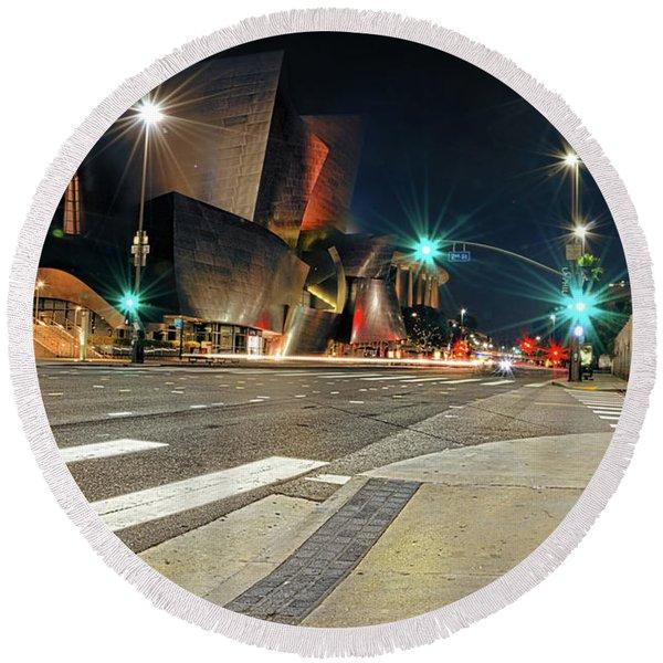 Walt Disney Concert Hall - Los Angeles Art Round Beach Towel