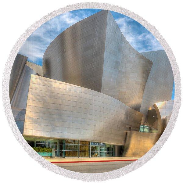 Walt Disney Concert Hall - Los Angeles Round Beach Towel