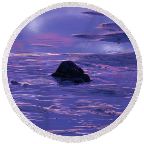 Water By Jenny Potter Round Beach Towel