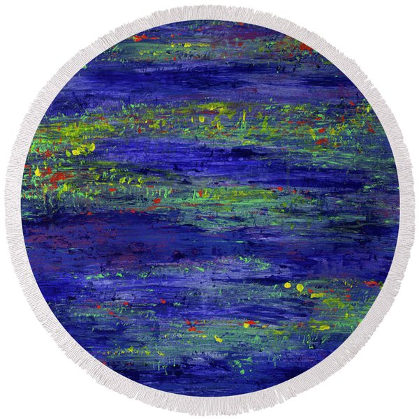 Water Serenity Round Beach Towel