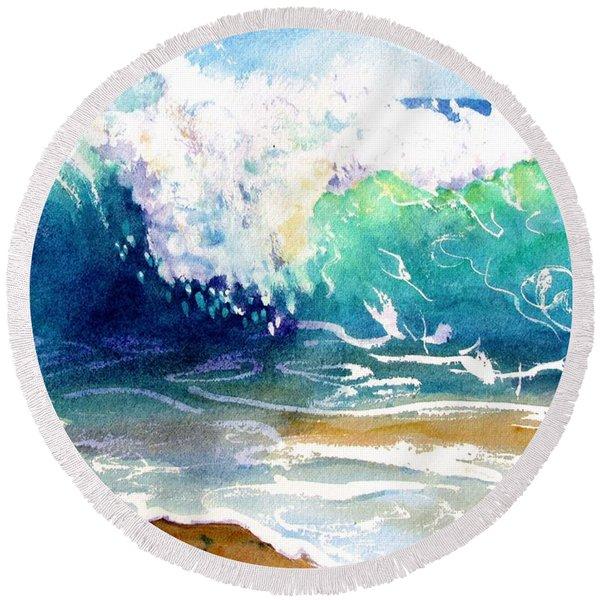 Wave Color Round Beach Towel