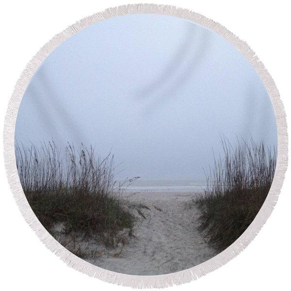 Welcome Round Beach Towel