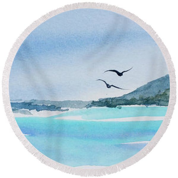 West Coast  Isle Of Pines, New Caledonia Round Beach Towel