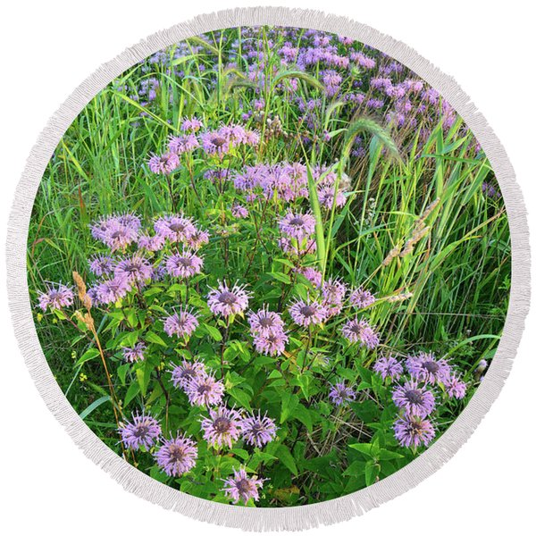 Wildflower Bouquet In Glacial Park Round Beach Towel