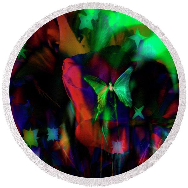 Round Beach Towel featuring the digital art Wonderland by Gerlinde Keating - Galleria GK Keating Associates Inc