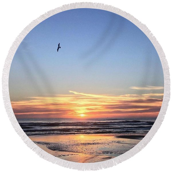 World Gratitude And Peace Day Round Beach Towel